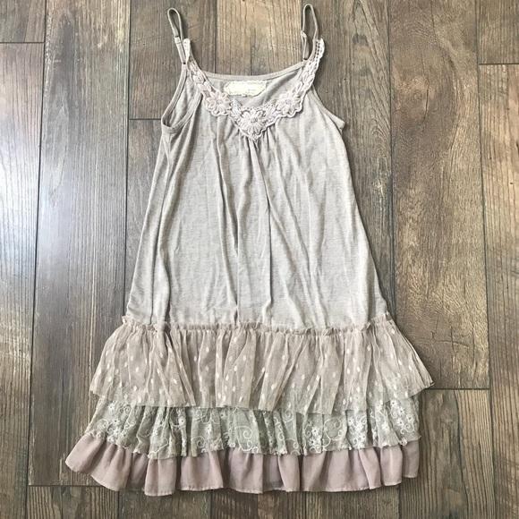 f4aa8665dc28 Anthropologie Dresses | Areve Cream Lace Trimmed Slip Dress | Poshmark